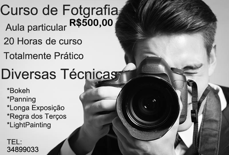 Curso de fotografia Recreio dos Bandeirantes Rio de Janeiro particular individual com aula pratica